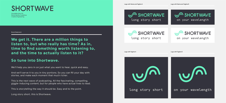 Shortwave description and branding