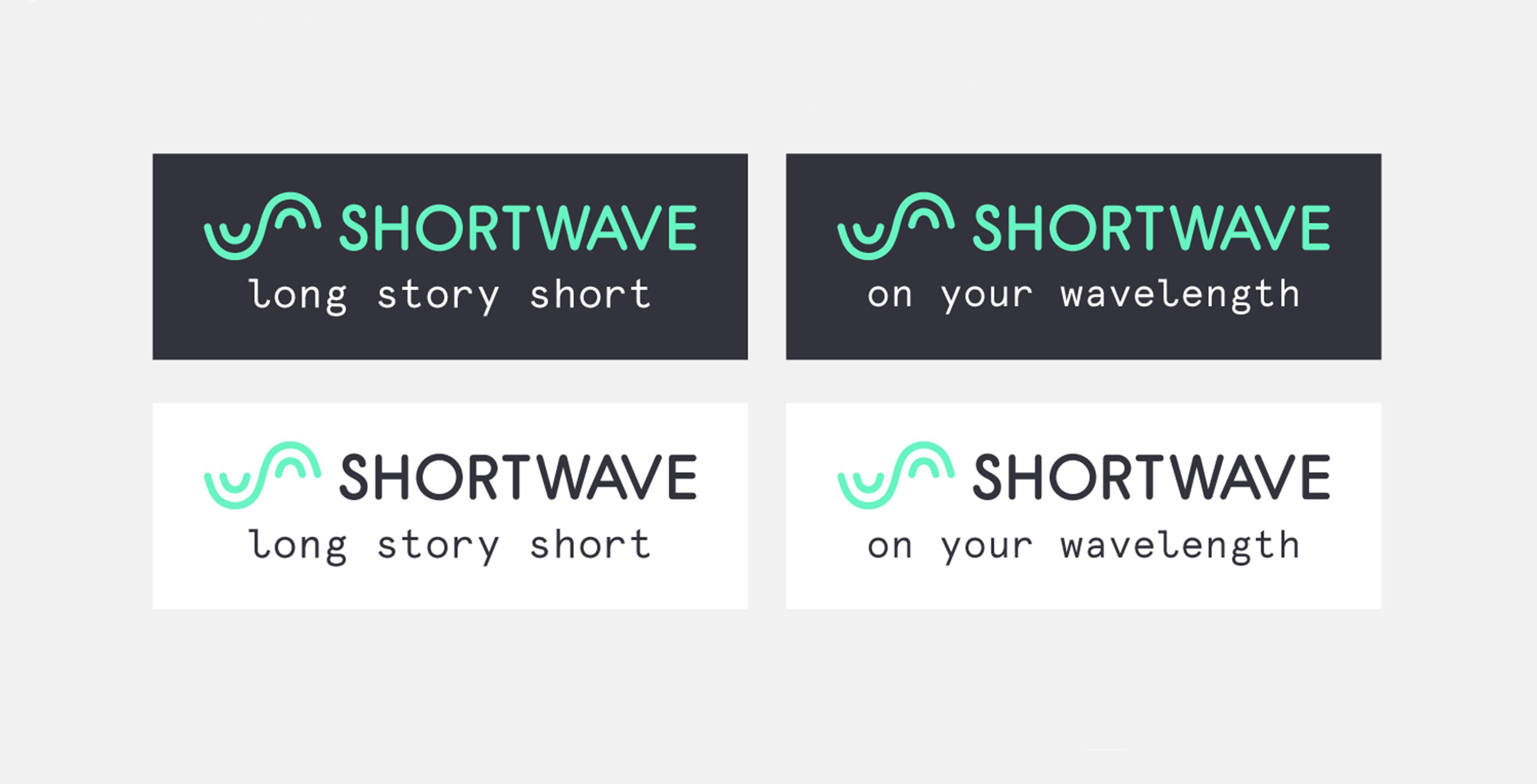 Shortwave logos and slogans