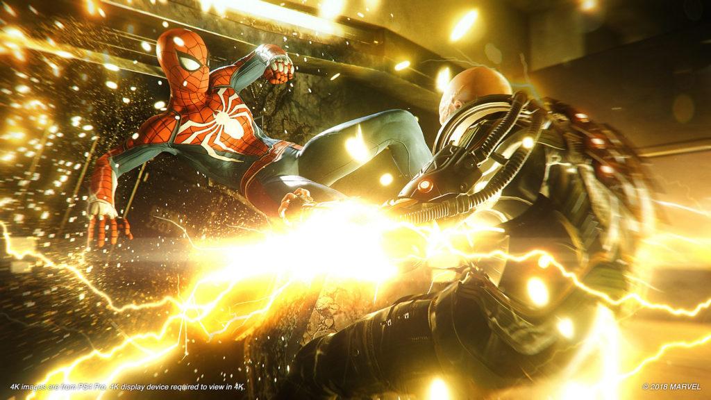 Spider-Man fighting Electro