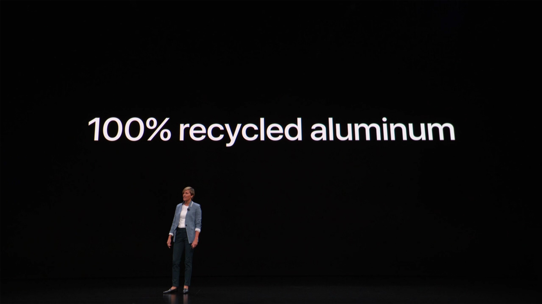 MacBook Air uses 100 percent recycled aluminum