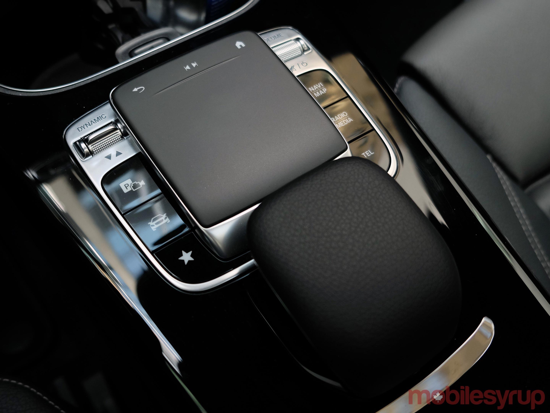 Mercedes-MBUX centre console input