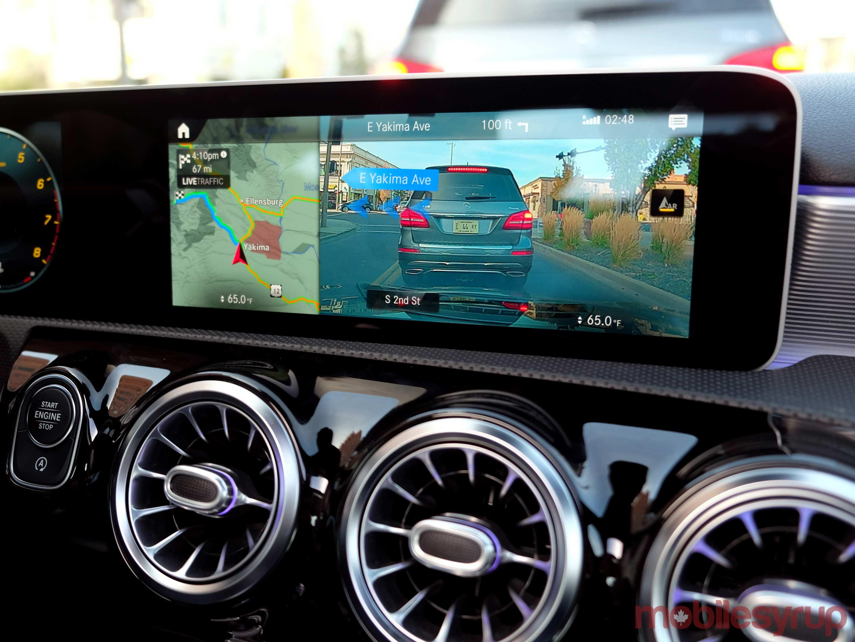 Mercedes MBUX navigation