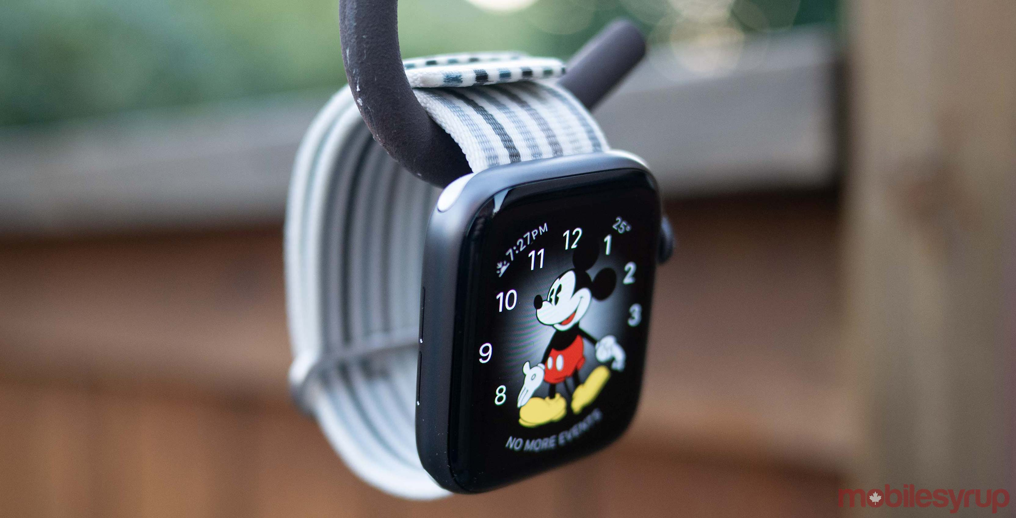 Apple Watch Series 4 hanging