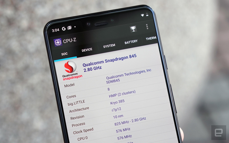 Pixel 3 XL uses Snapdragon 845