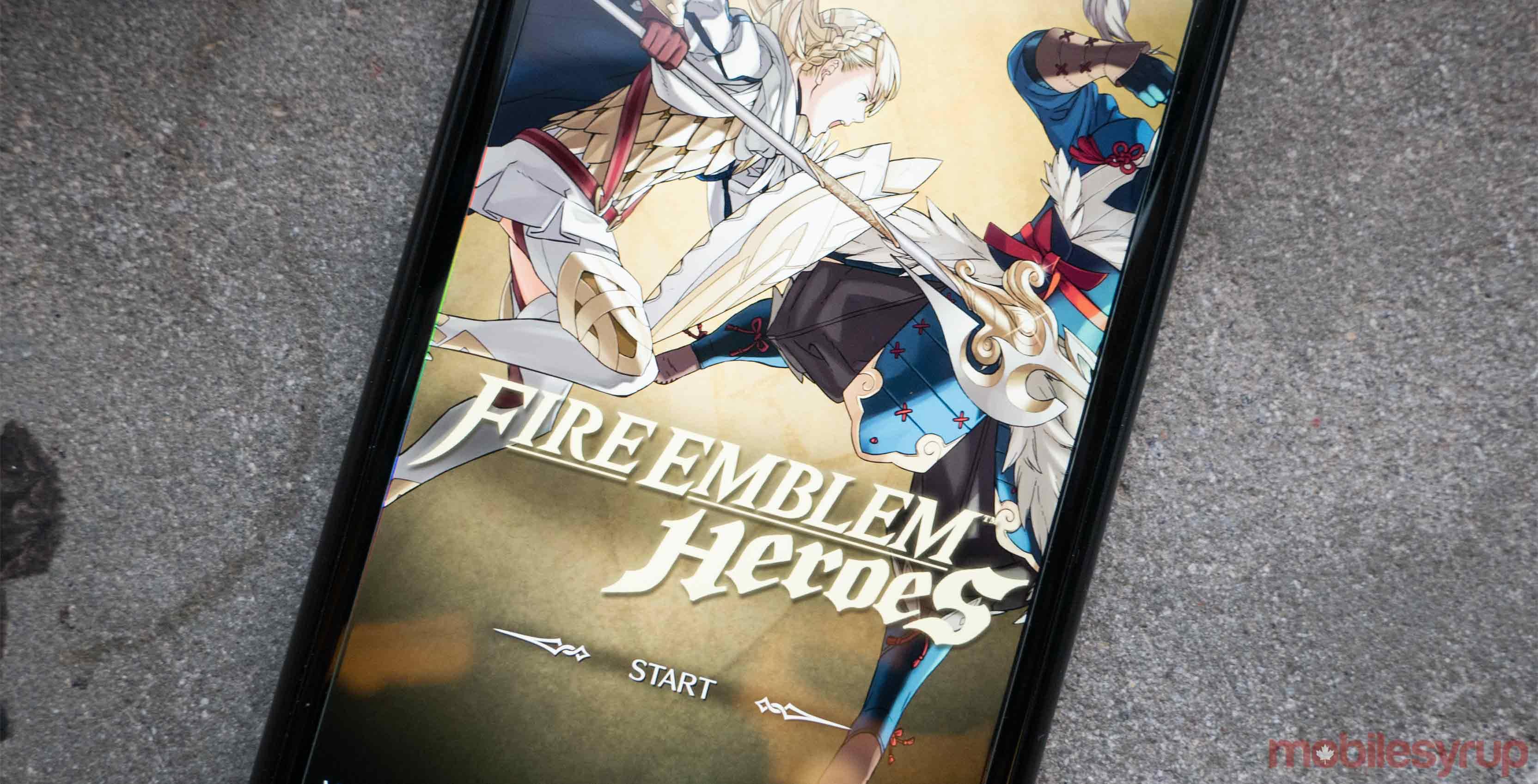 Fire Emblem Heroes on phone