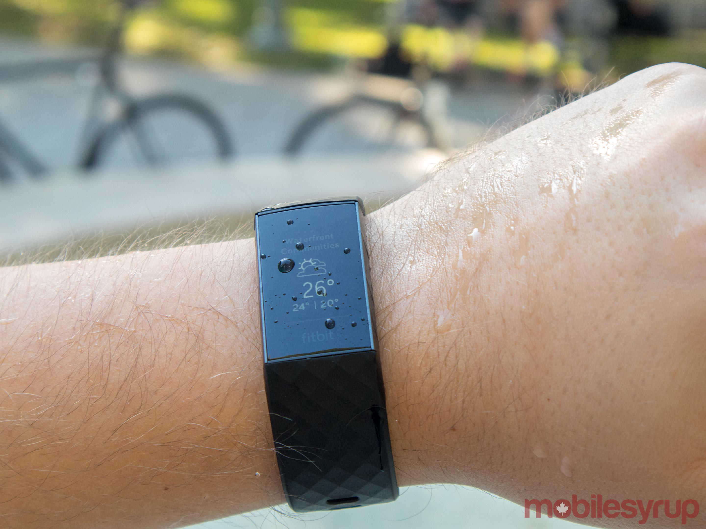 Fitbit Charge 3 water resistant