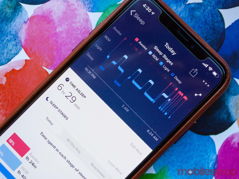 Fitbit sleep tracking