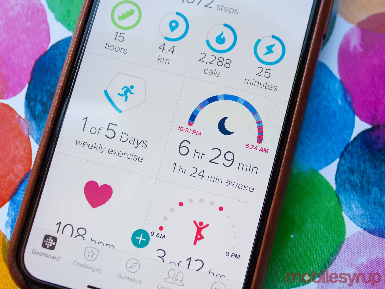 Fitbit app sleep score