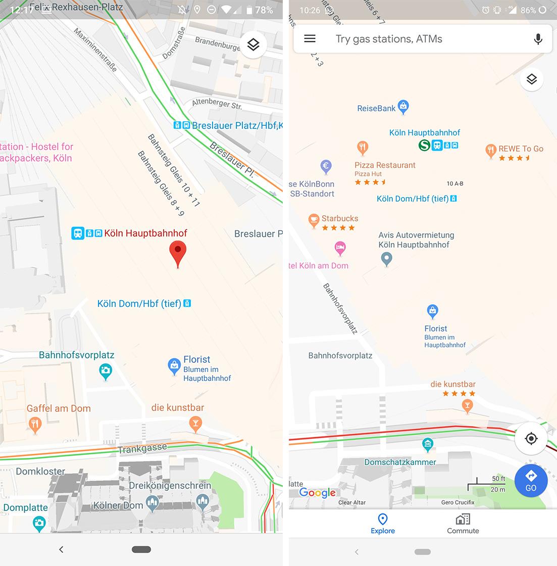 Google Maps star ratings