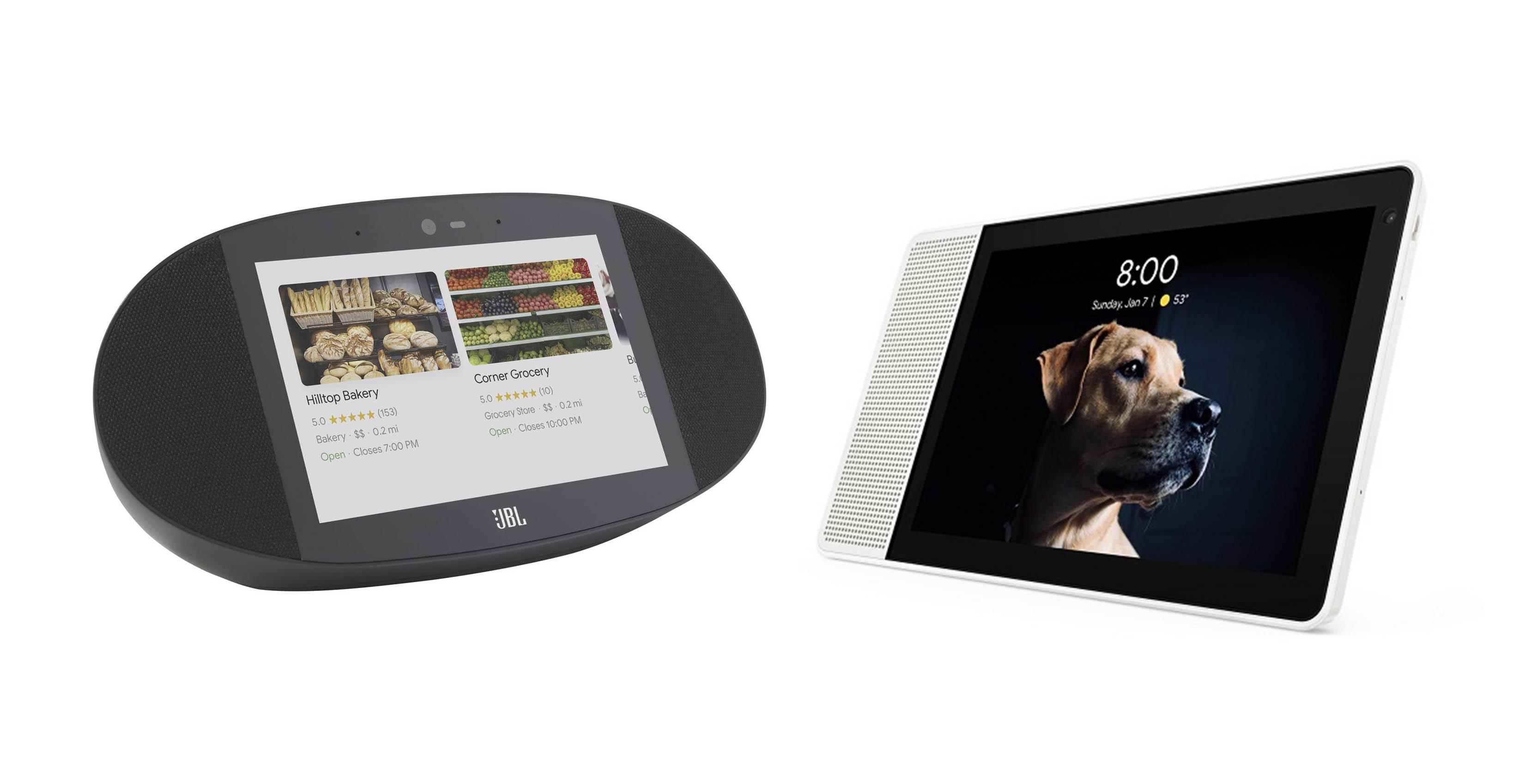 JBL and Lenovo smart displays