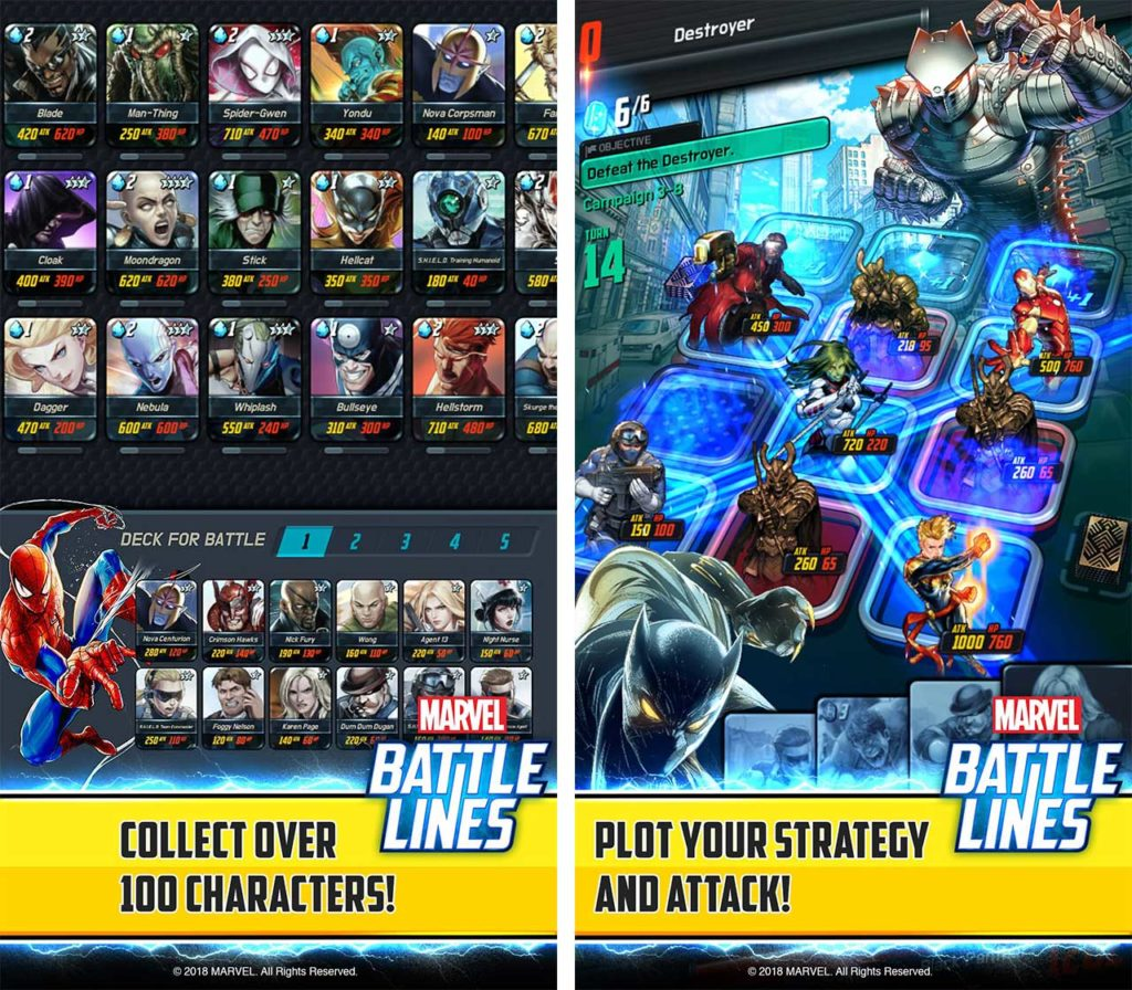 Marvel Battle Lines screenshots