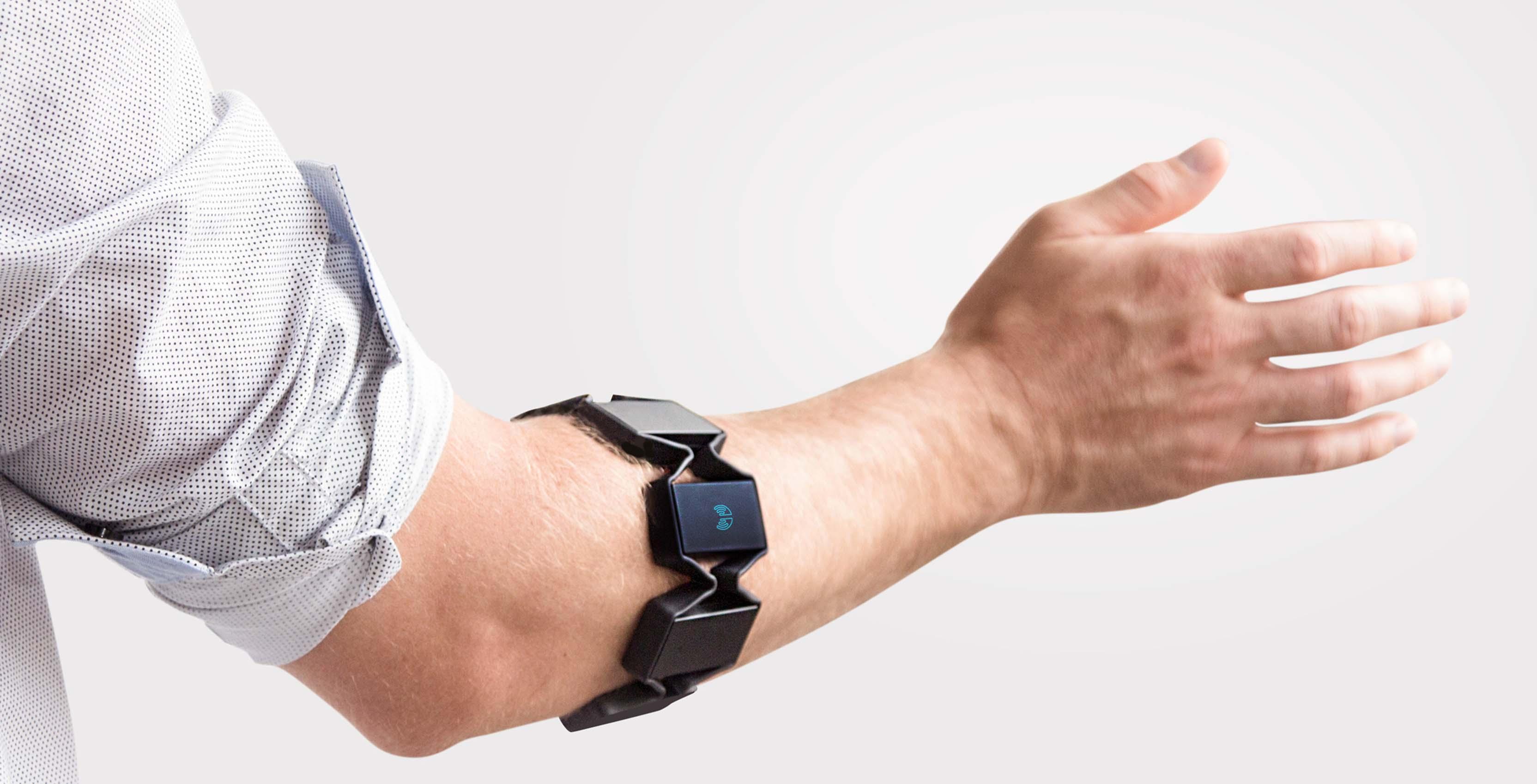 Myo armband on an arm