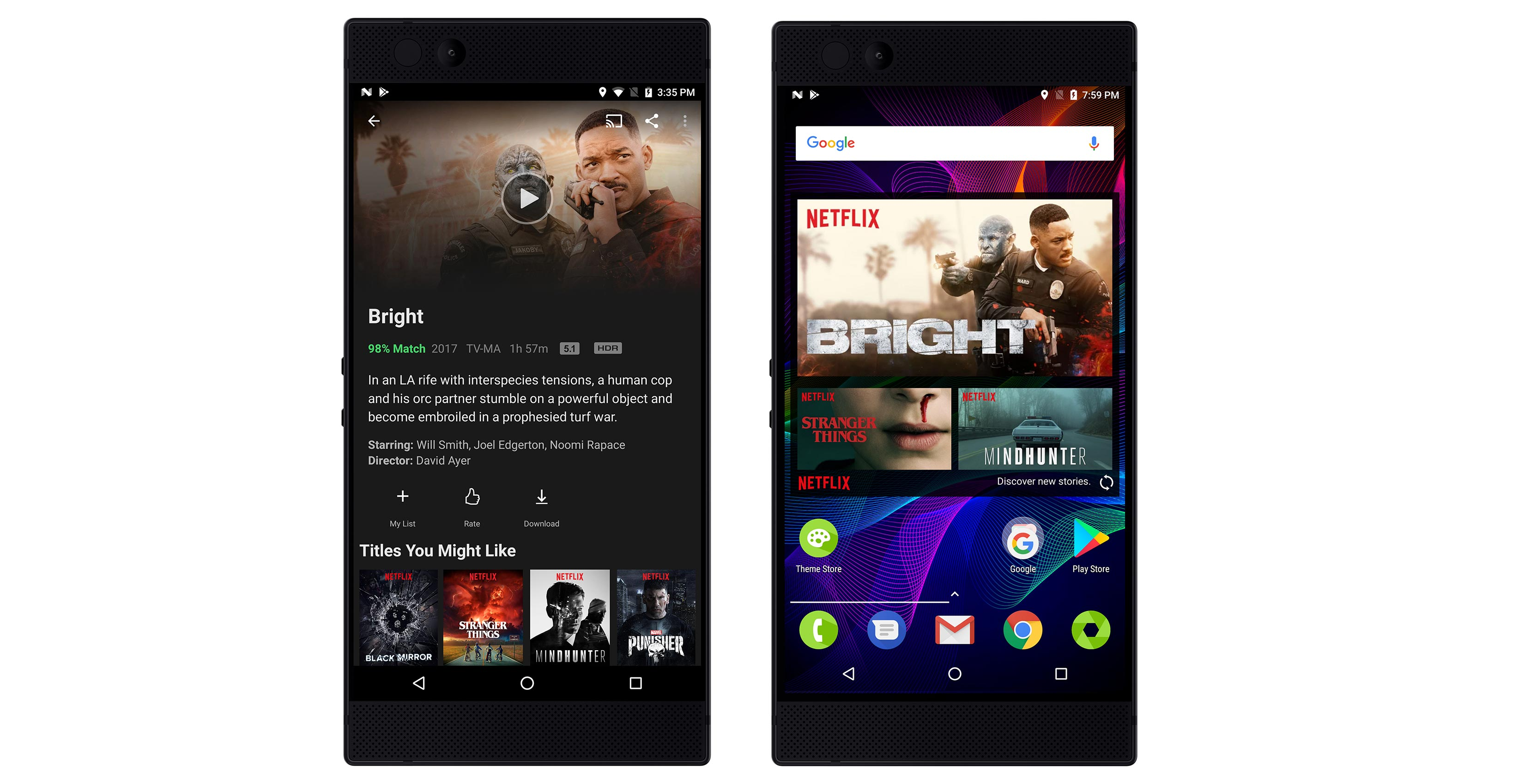 Netflix on Razer Phone