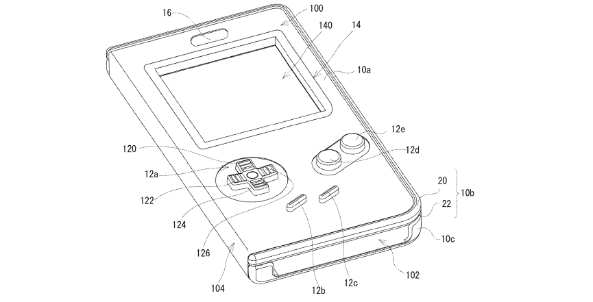 Game Boy smartphone patent