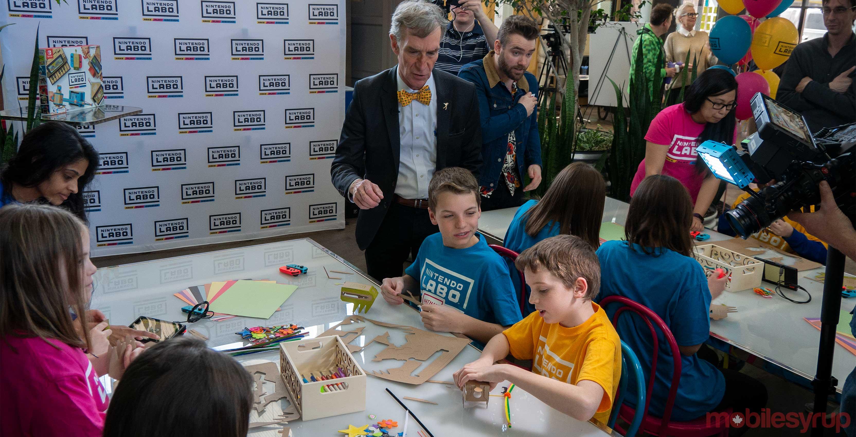 Nintendo Labo Bill Nye with kids