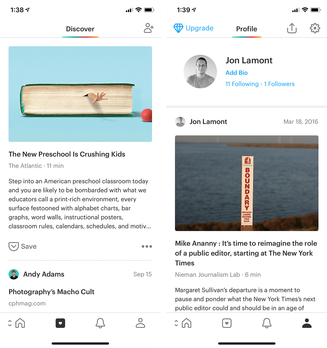 Pocket Discover and Profile