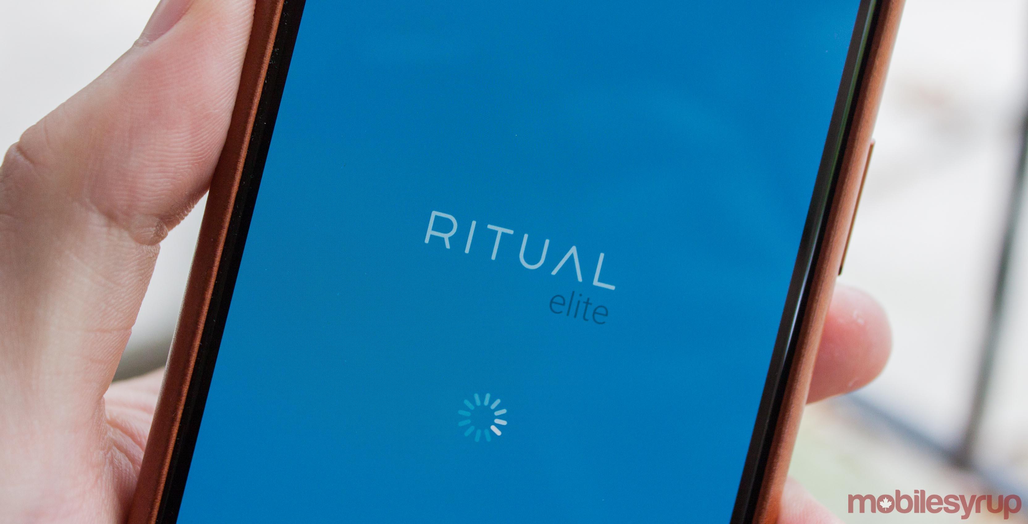 Ritual loading screen iOS