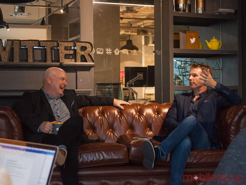 Scott Moore and Jeff Marek at Twitter Toronto