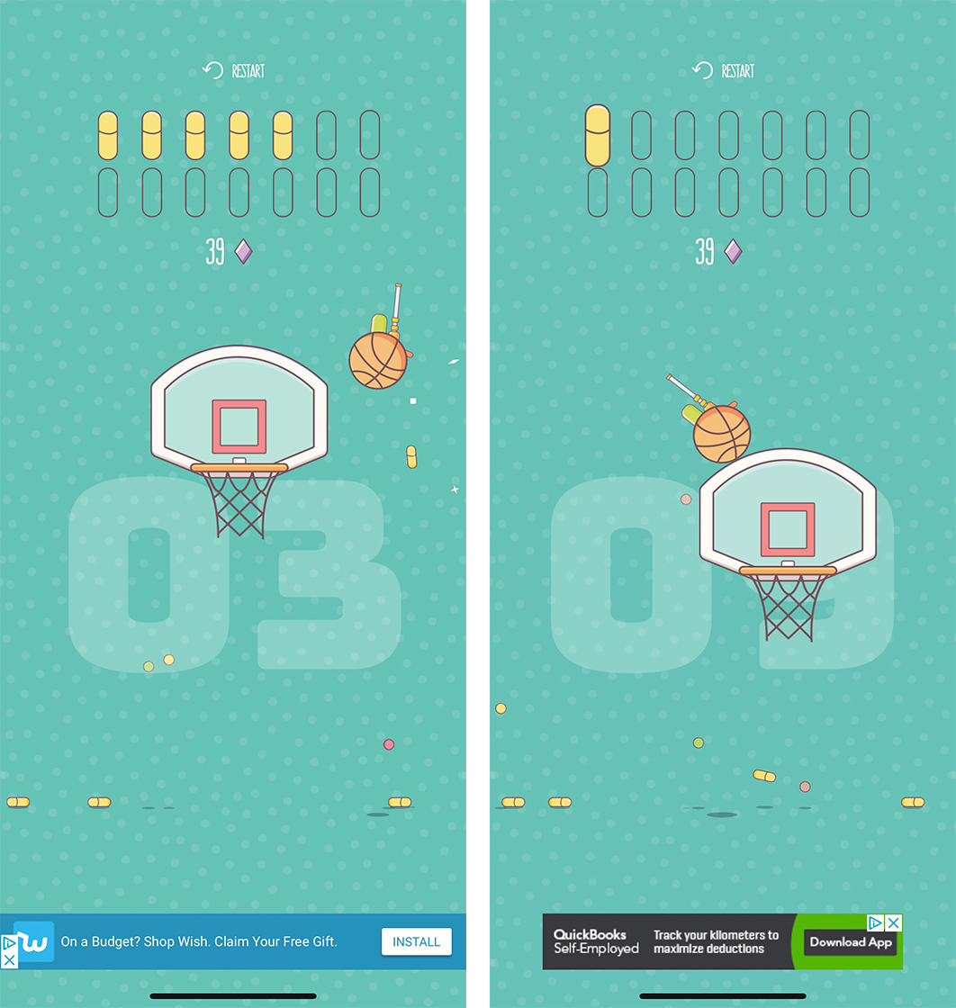 Shooting Hoops screenshot