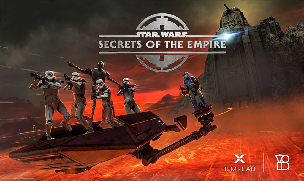 Star Wars Secrets of the Empire droid with troopers