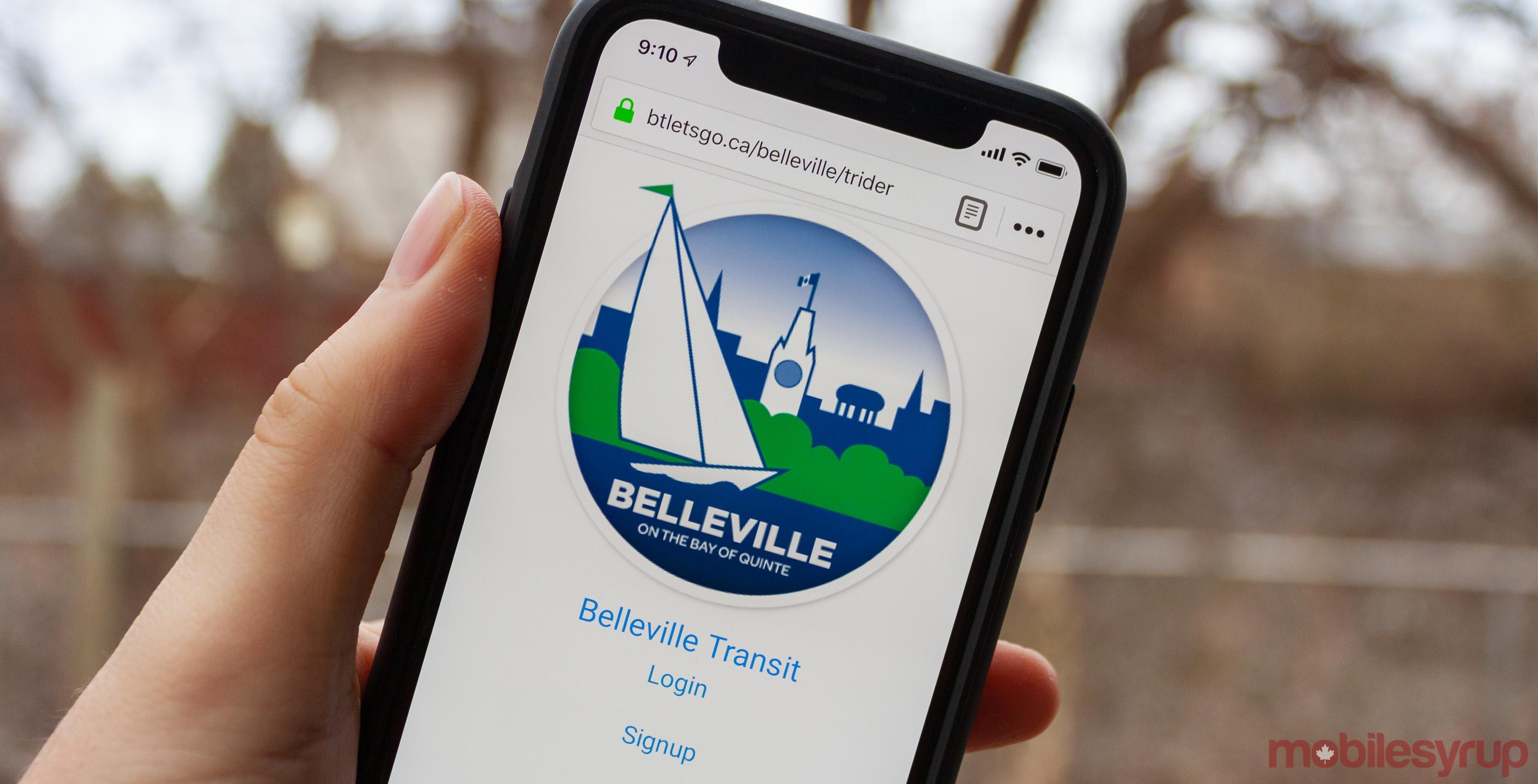 Belleville transit website