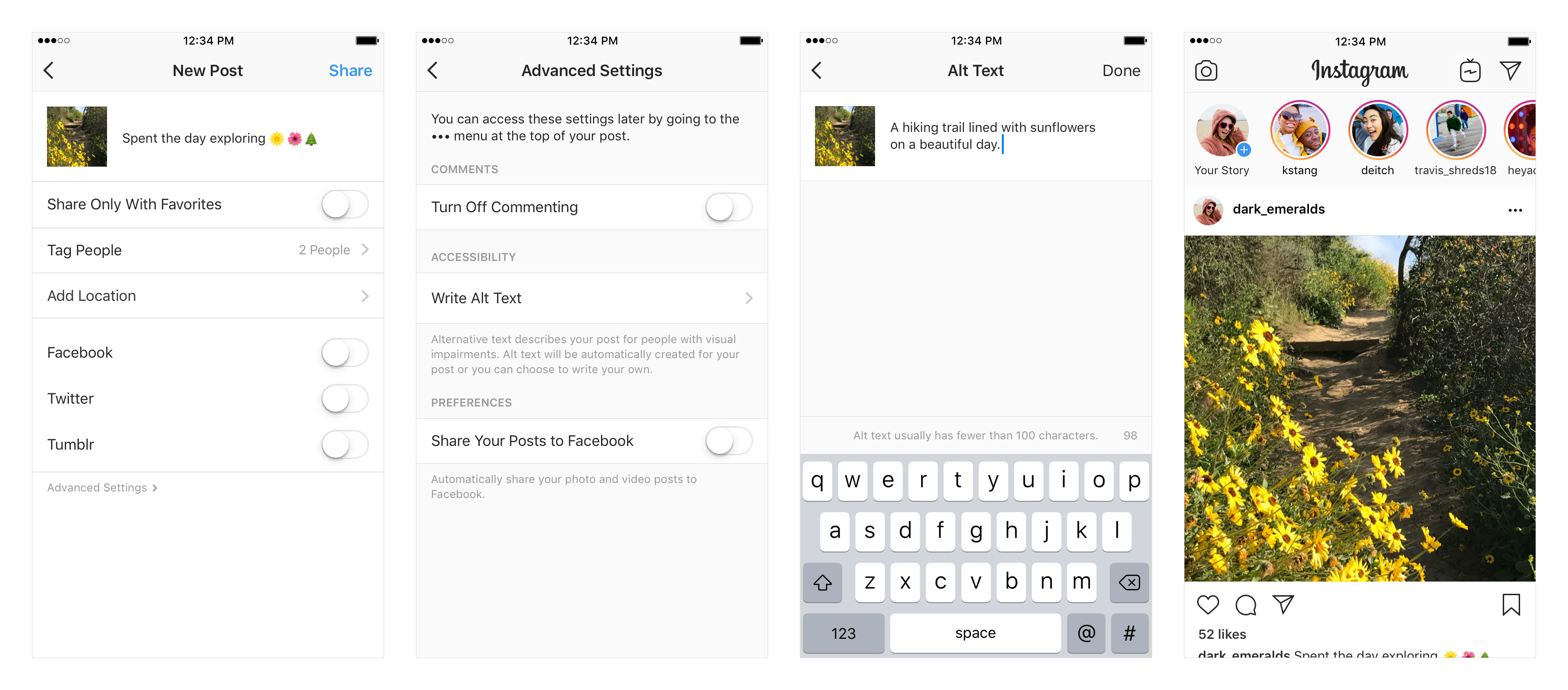 Instagram accessibility