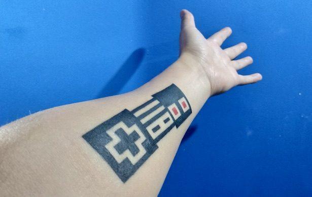 NES tattoo