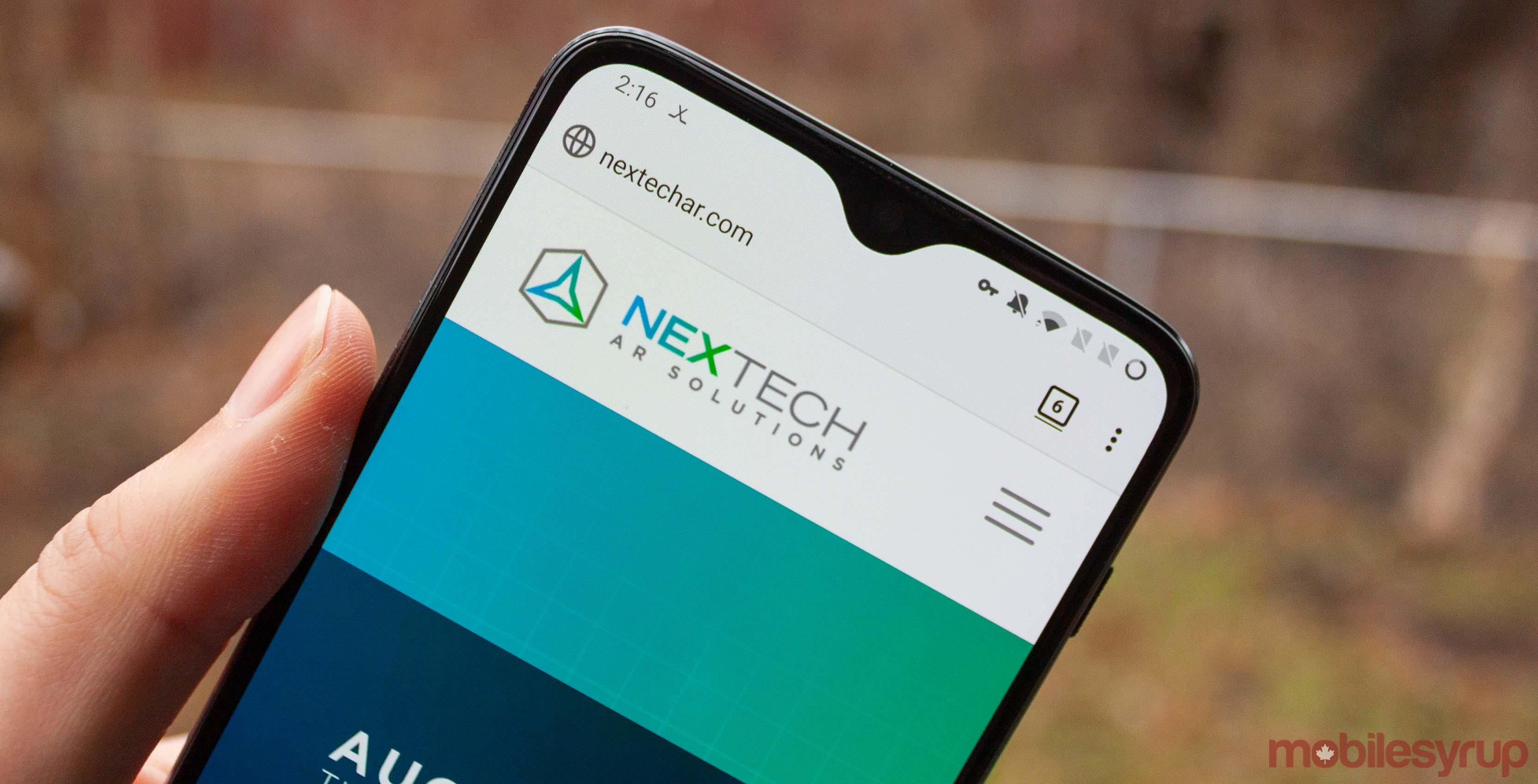 NexTech website