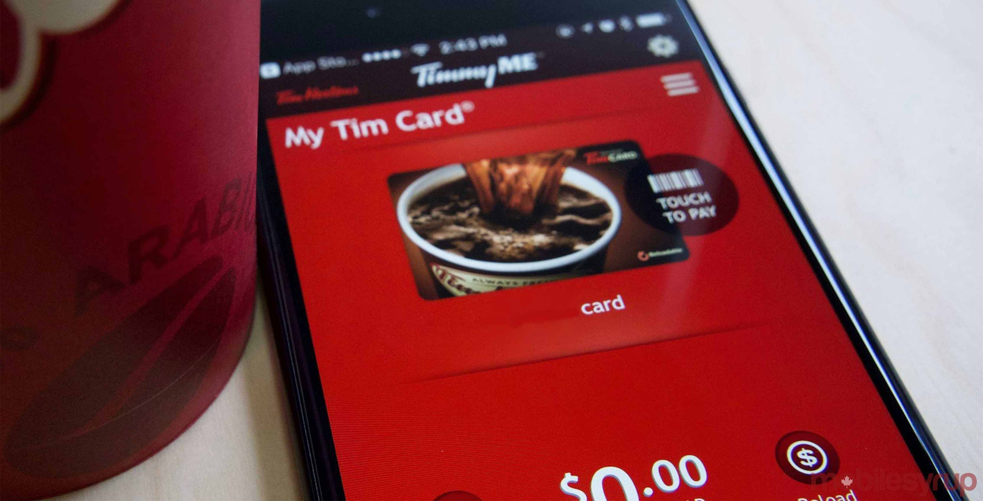 Tim Hortons mobile app