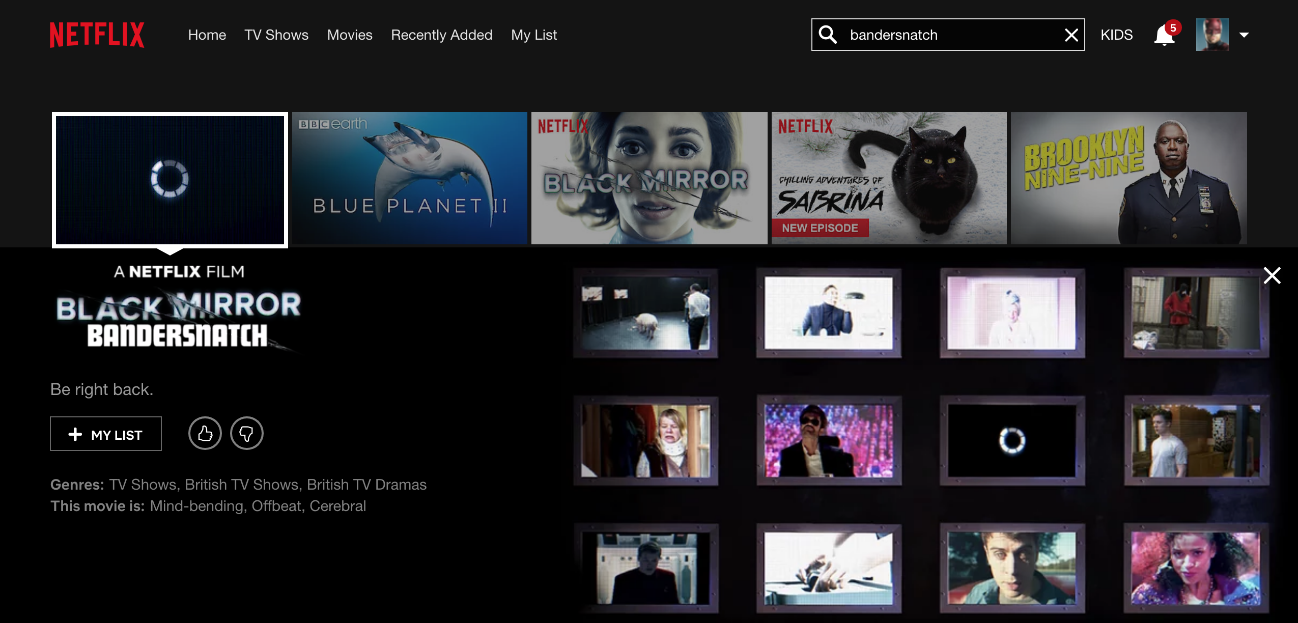 Netflix Black Mirror Bandersnatch