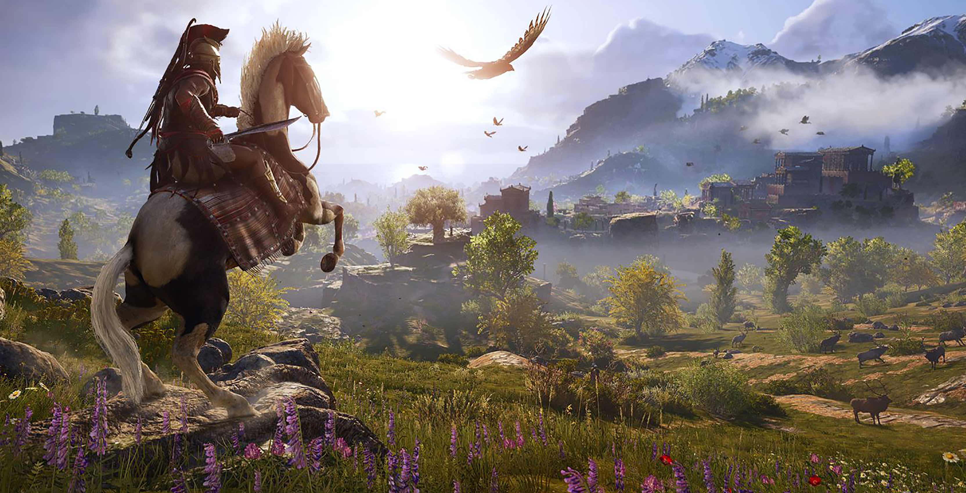 Assassin's Creed Odyssey Alexios on horse
