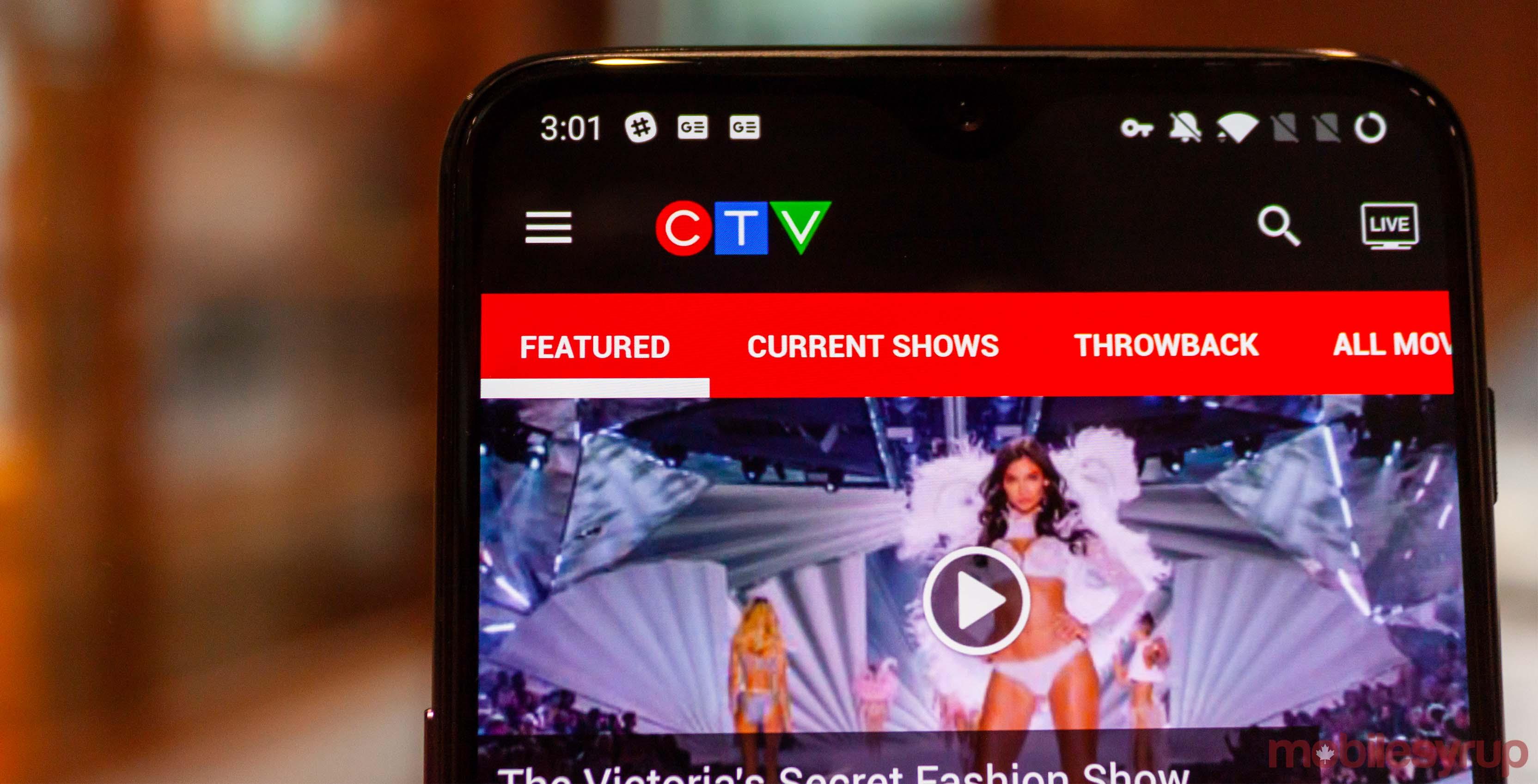 CTV app header