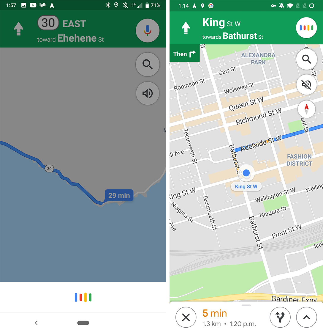 Google Maps Assistant redesign