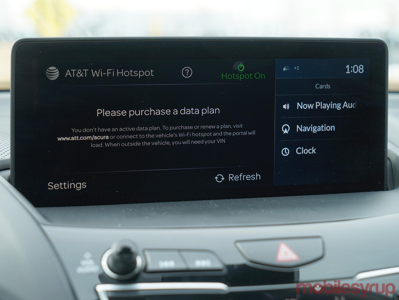 Acura True Touchpad hotspot