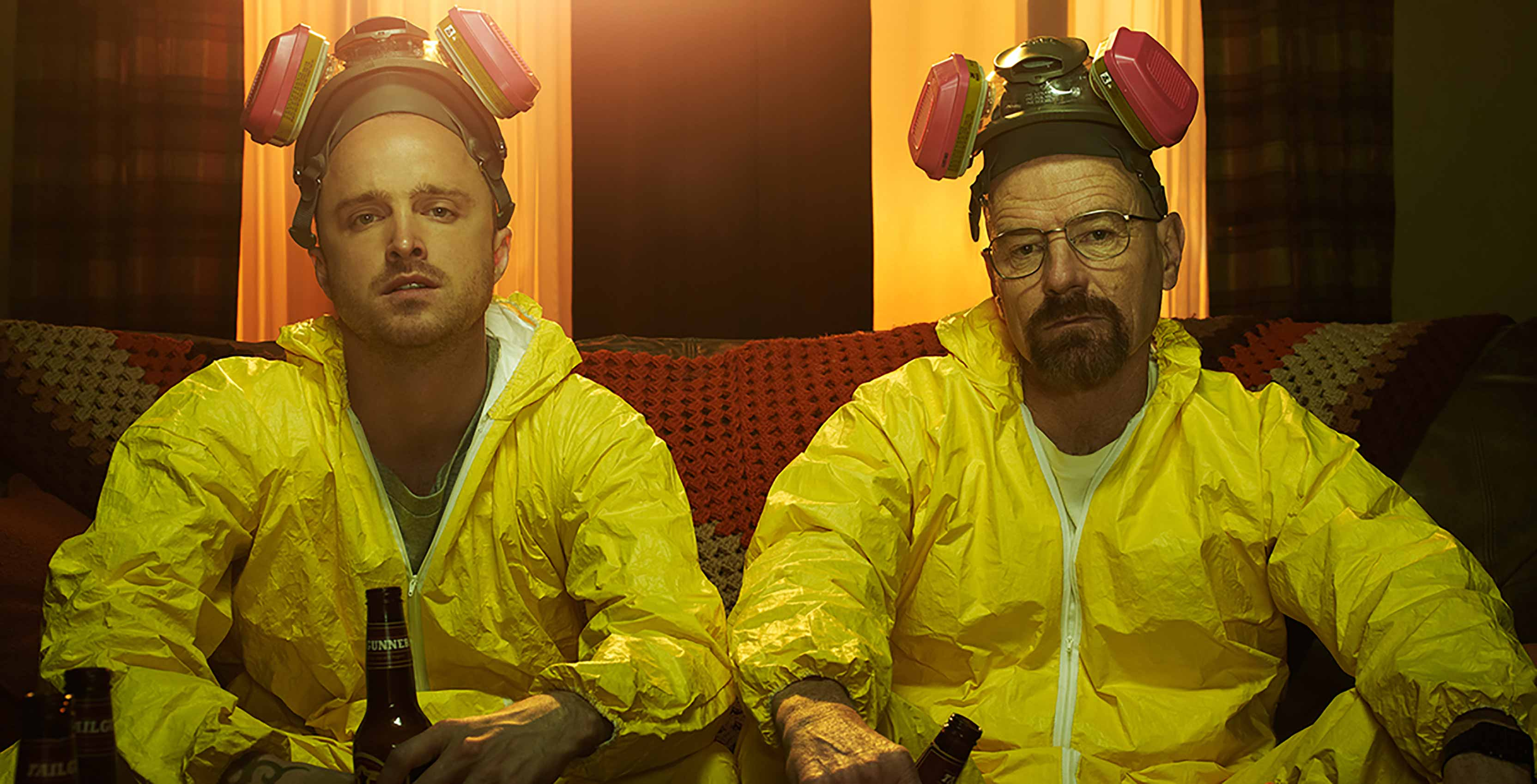 Breaking Bad Walt and Jesse in chem suits