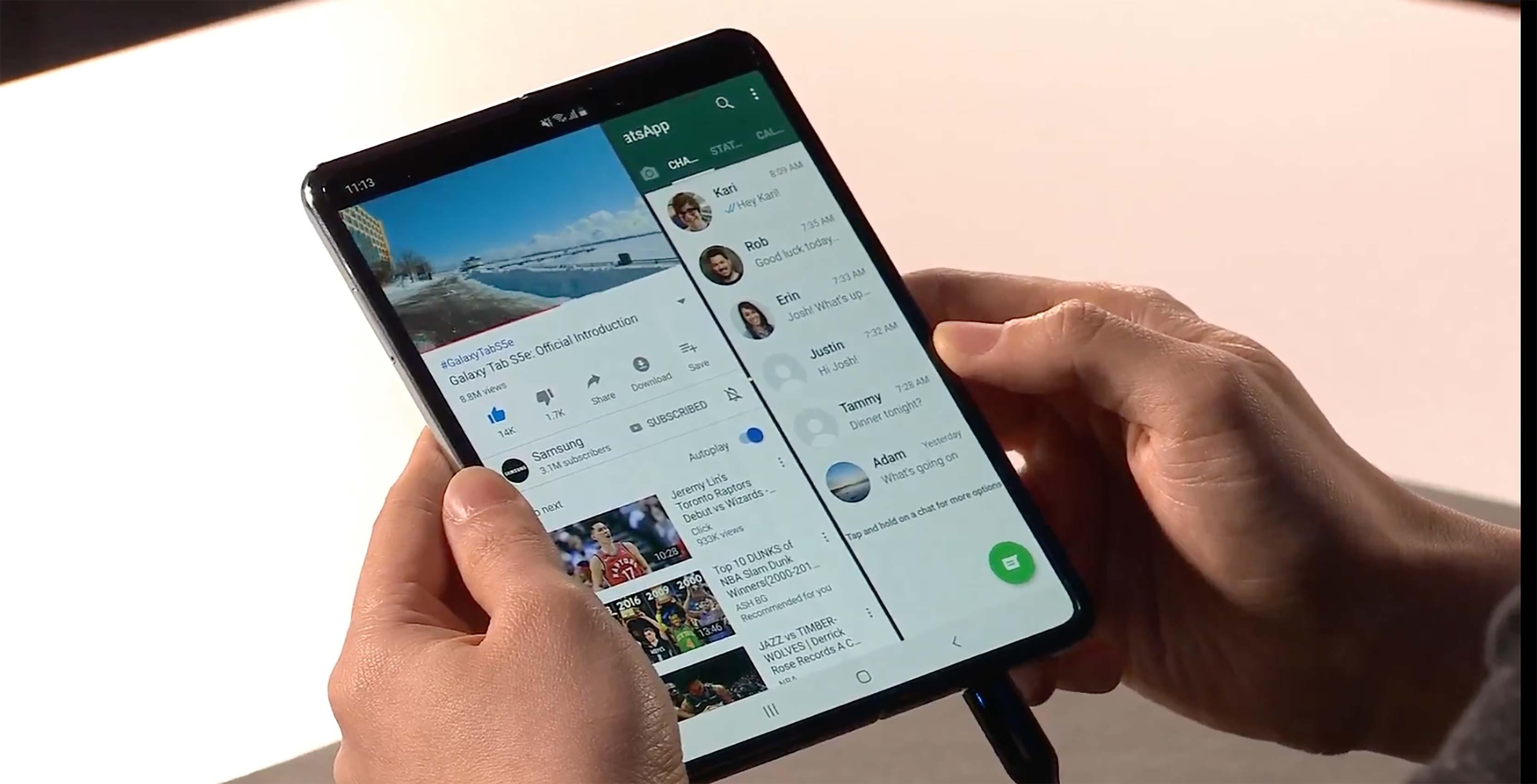 Galaxy Fold multi-app