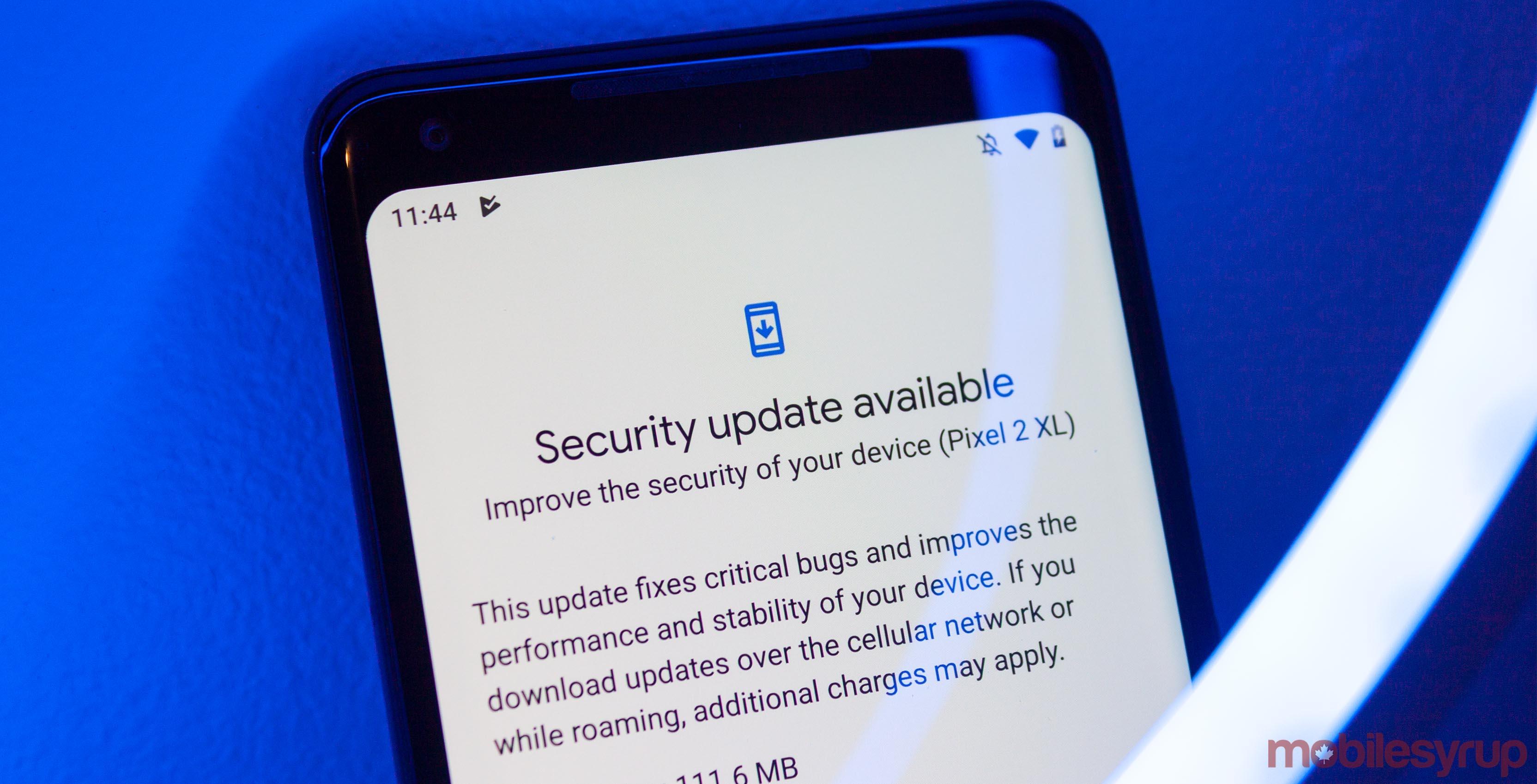 Security update header