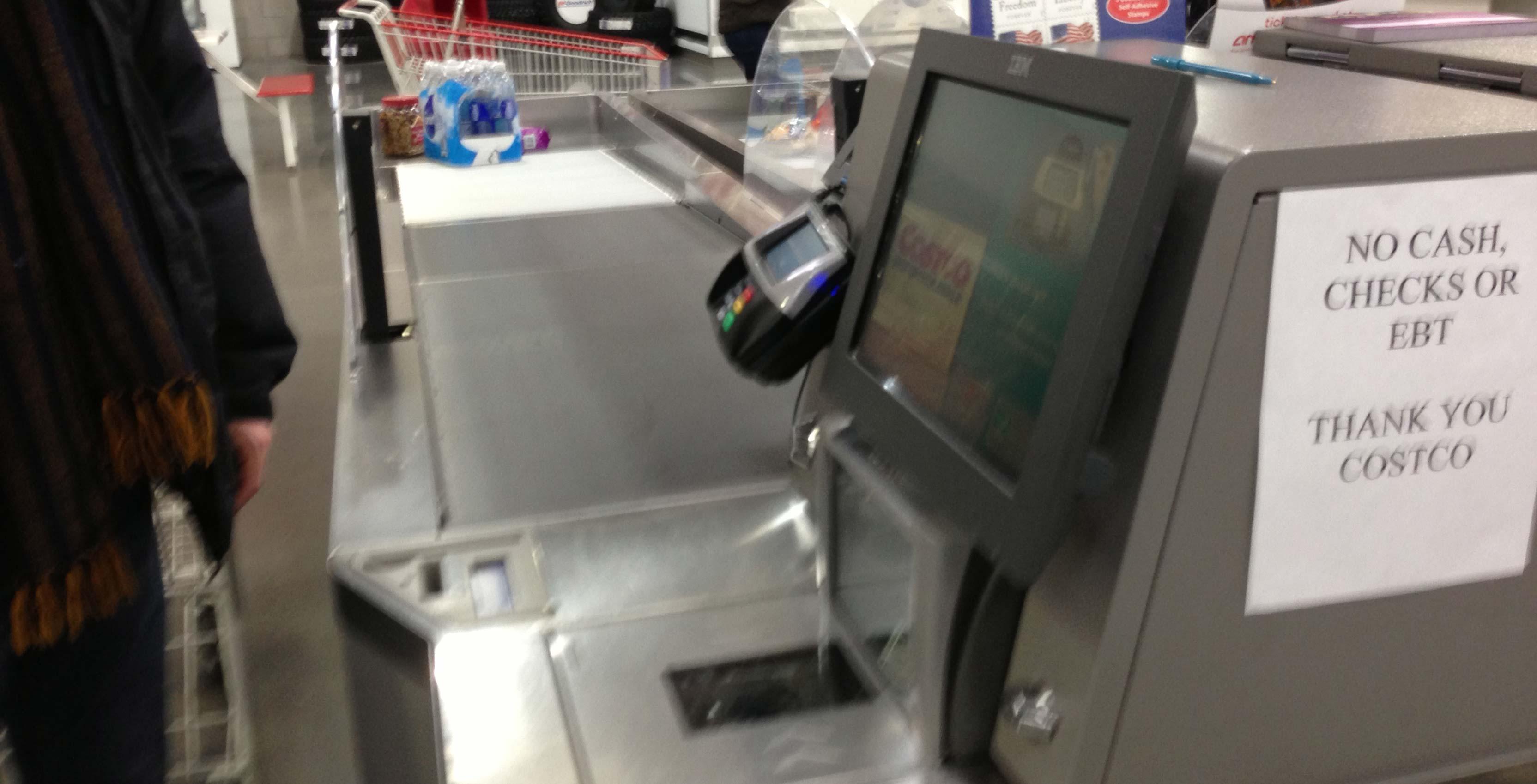 self-checkout kiosk