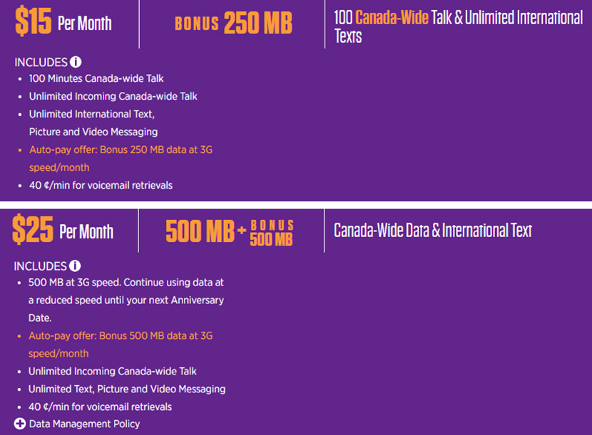 Chatr low-cost data-only plans