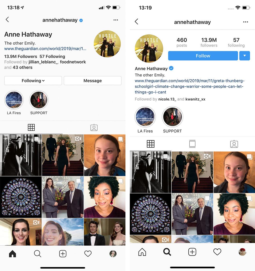 New Instagram profile