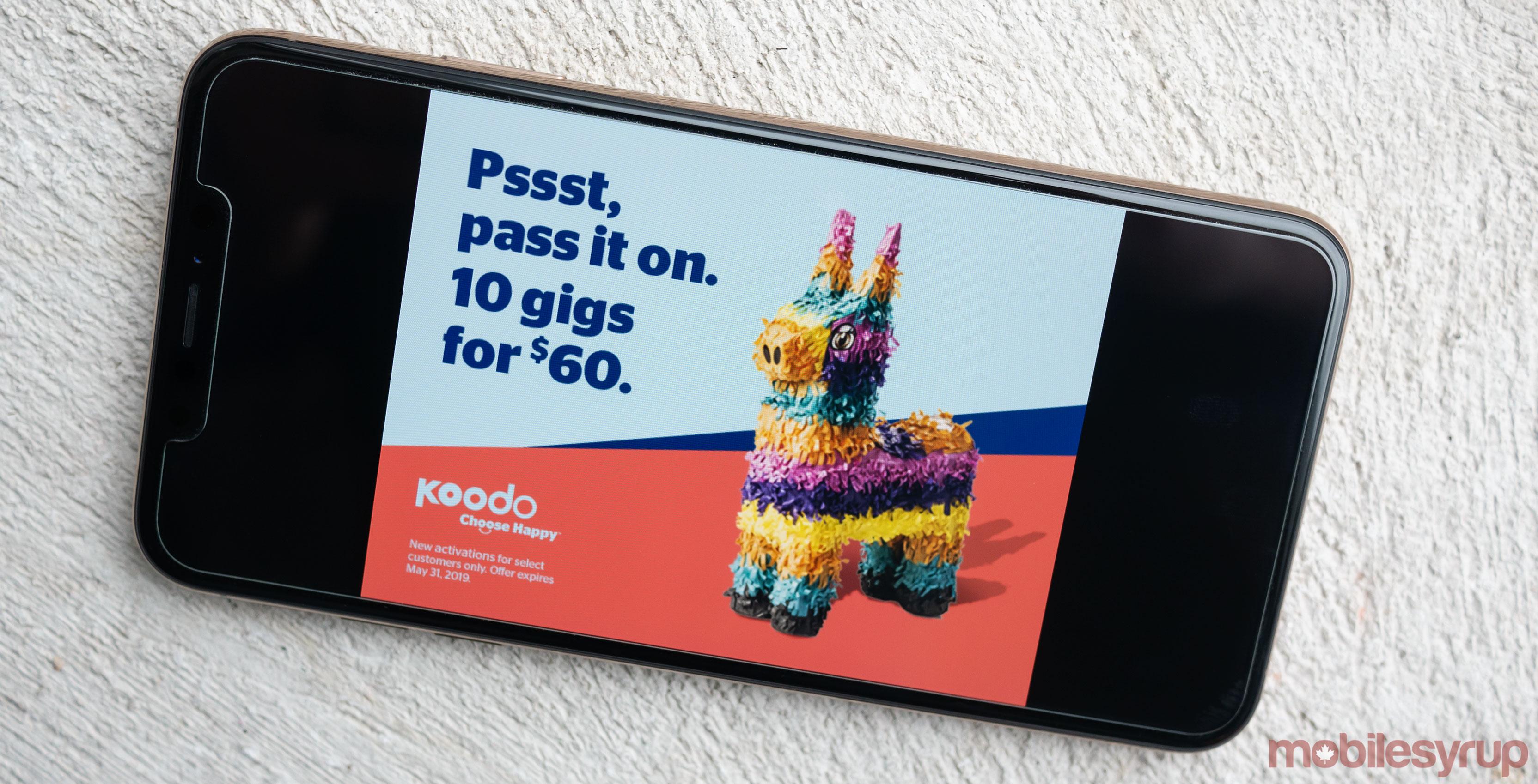 Koodo 10GB