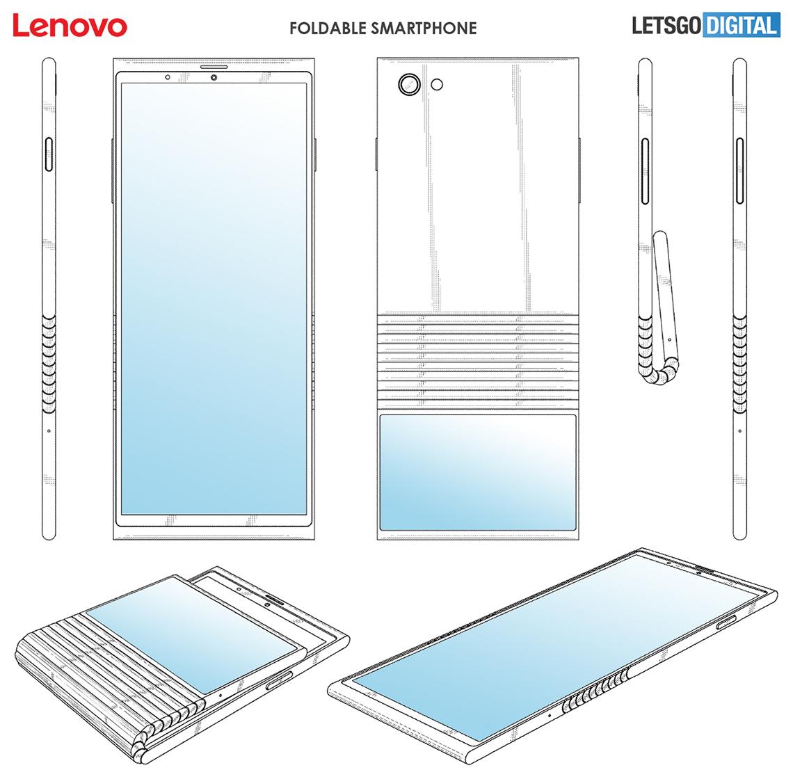 Lenovo folding phone patent
