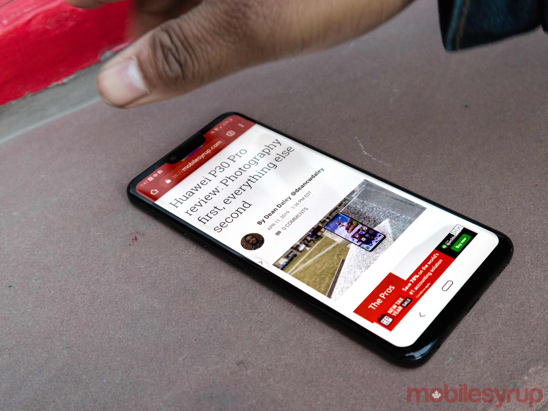 Dean using Hand ID on LG G8 ThinQ