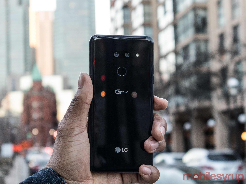 Back of LG G8 THnQ