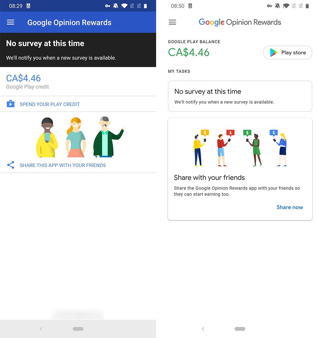 Opinion Rewards main page