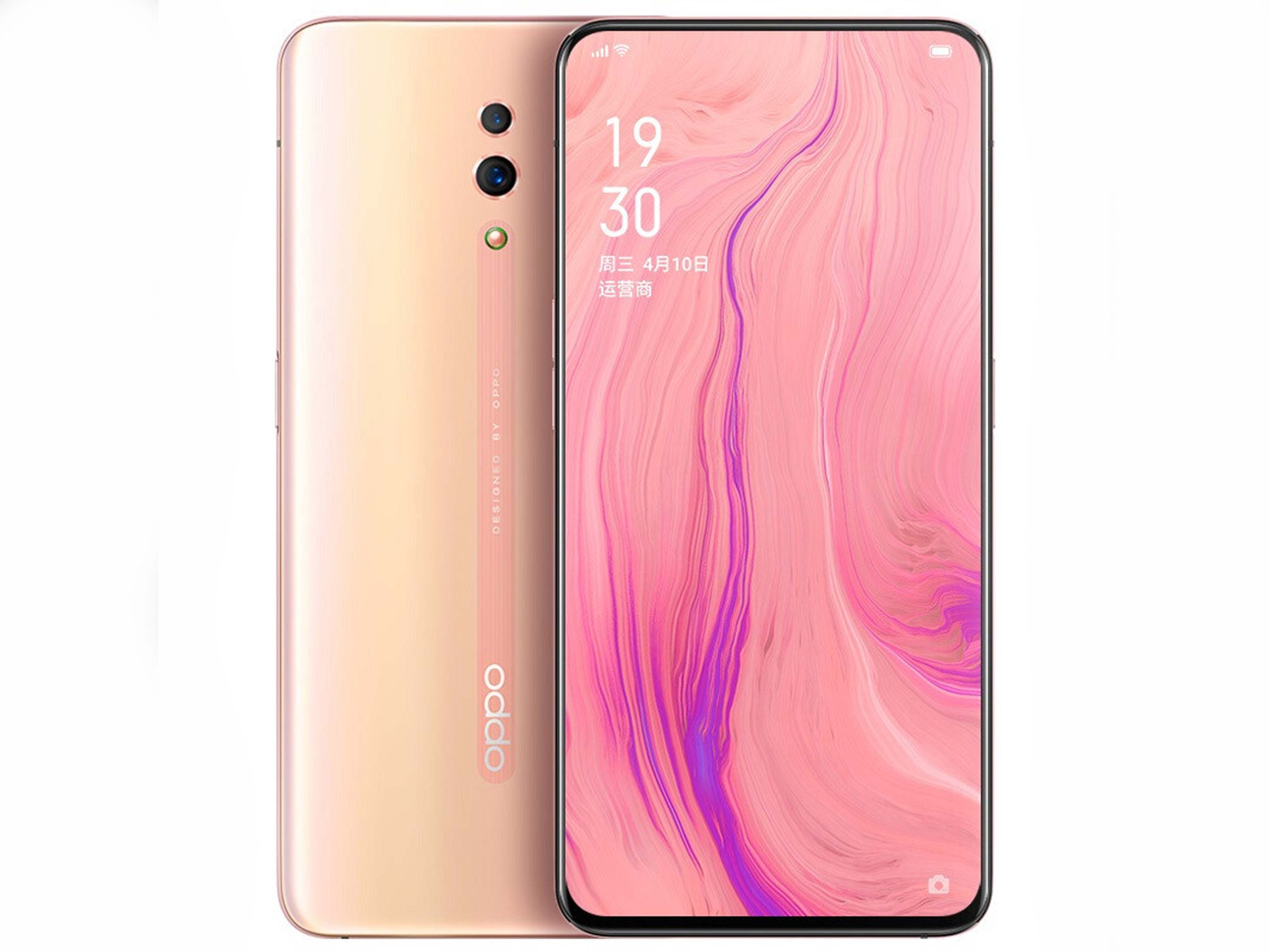 The Oppo Reno in pink