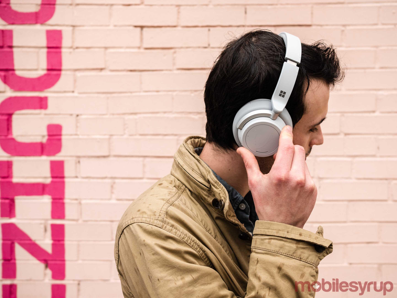 Surface Headphones exterior control dials