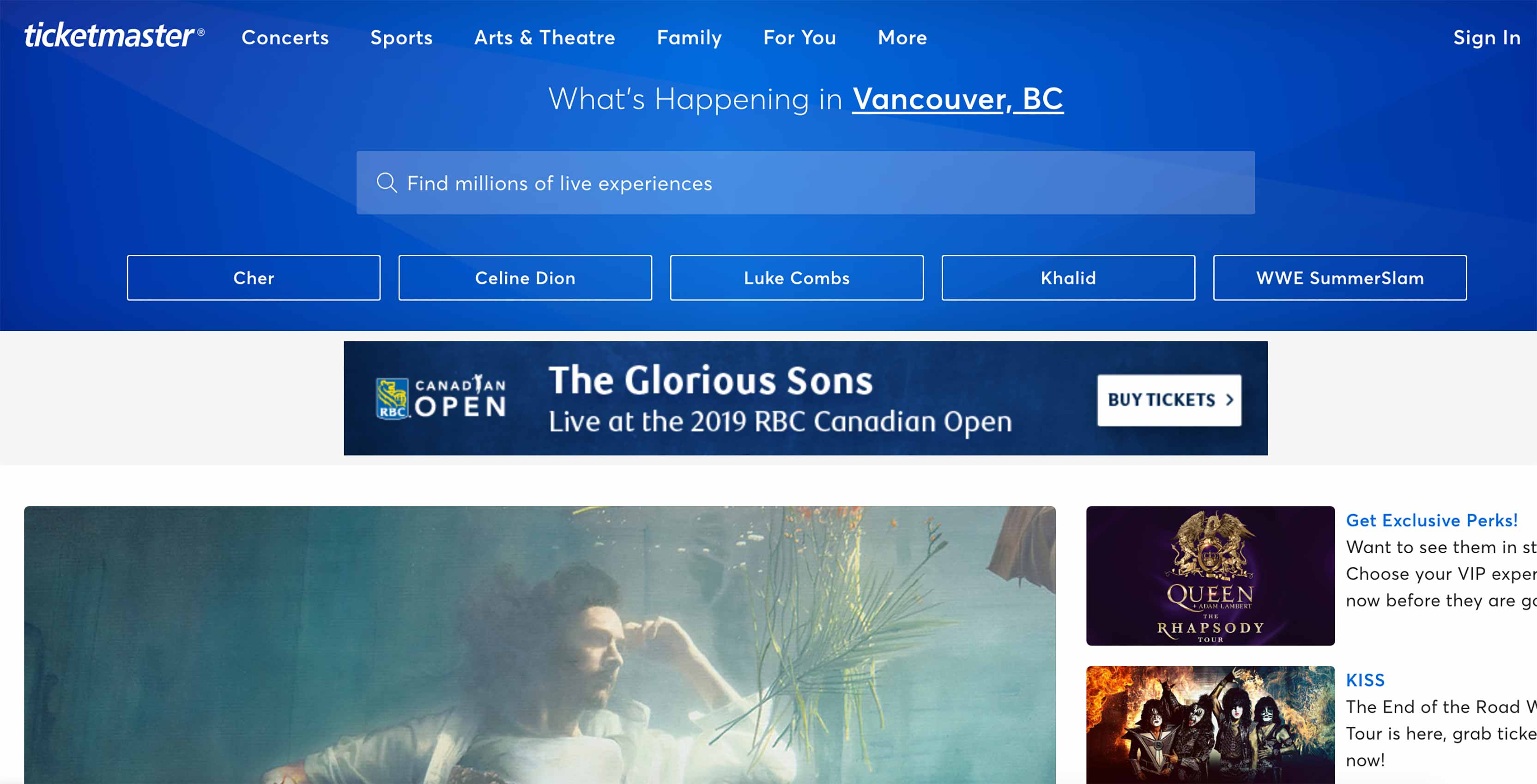 Ticketmaster Vancouver