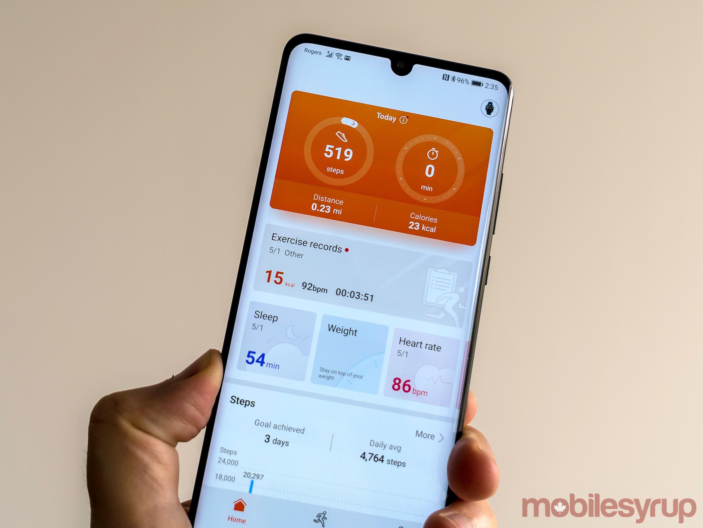Huawei Watch GT health app