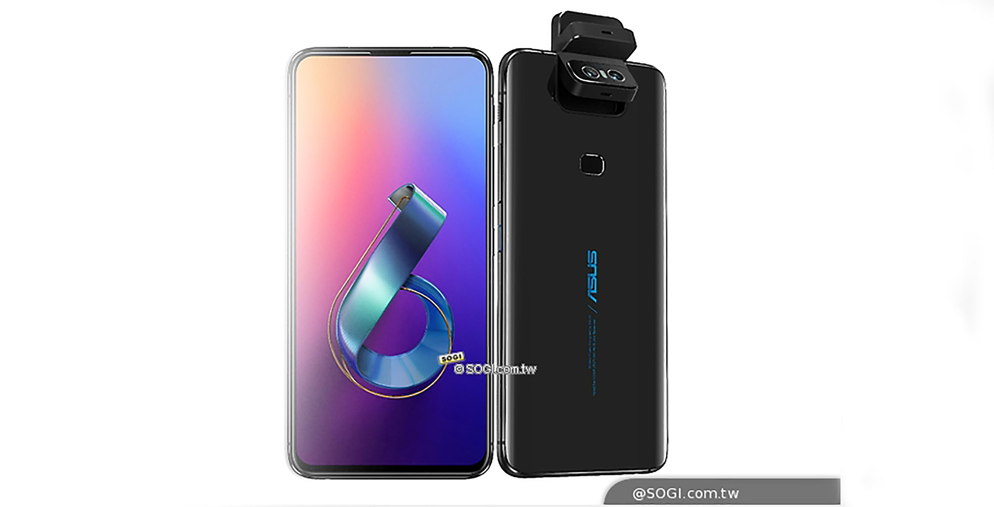 Asus Zenfone 6 back and front